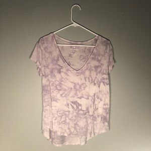 AEO Purple Tie-Dye T-Shirt